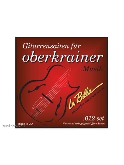Flatwound elektromos gitárhúrok LA BELLA OBERKRAINER/ 012