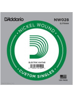 DADDARIO NW028 NICKEL WOUND SINGLE STRING 028