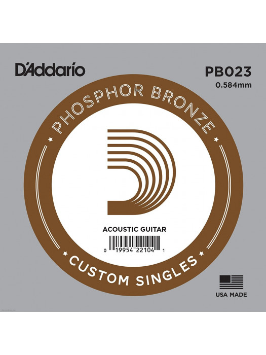 DADDARIO PB023 PHOSPHOR BRONZE SINGLE STRING 023