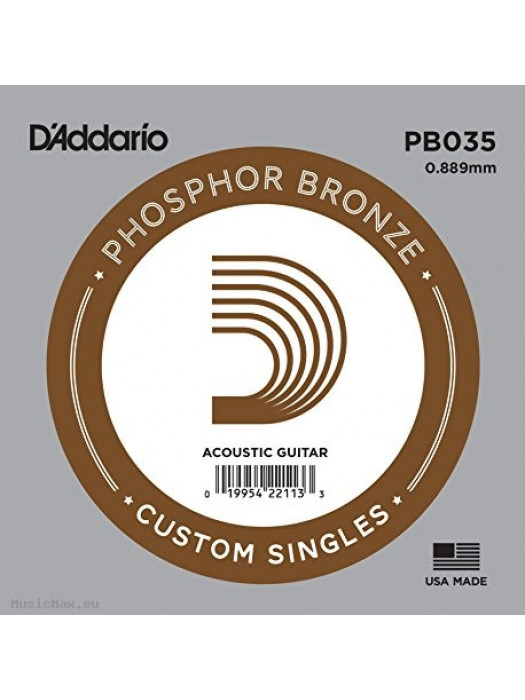 DADDARIO PB035 PHOSPHOR BRONZE SINGLE STRING 035