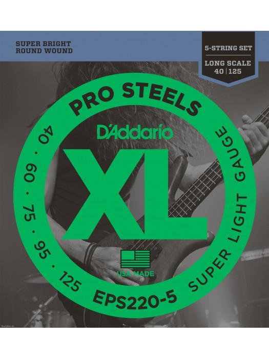Bass Guitar Strings Daddario EPS220-5 40-125 5STR