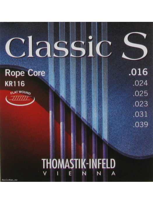 THOMASTIK KR116 Classic S Flatwound Medium Classical Guitar Strings