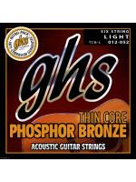 GHS TCB-L PH BRONZE THIN CORE ACOUSTIC STRINGS 12-52