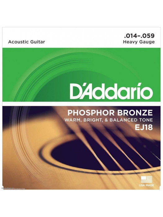 DADDARIO EJ18 PH BRONZE ACOUSTIC GUITAR STRINGS 14-59