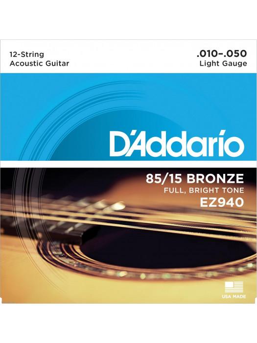 12-String Acoustic Guitar Strings Daddario EZ940 10-50