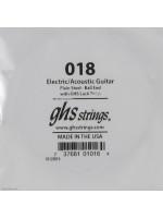 Akusztikus/Elektromos gitárhúr GHS SINGLE PLAIN BALLEND 018/ 018