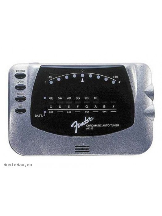 FENDER AX-12 CHROMATIC/AUTOMATIC TUNER SILVER
