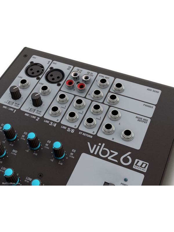LD SYSTEMS LDVIBZ6 VIBZ 6 6-CHANNEL MIXER