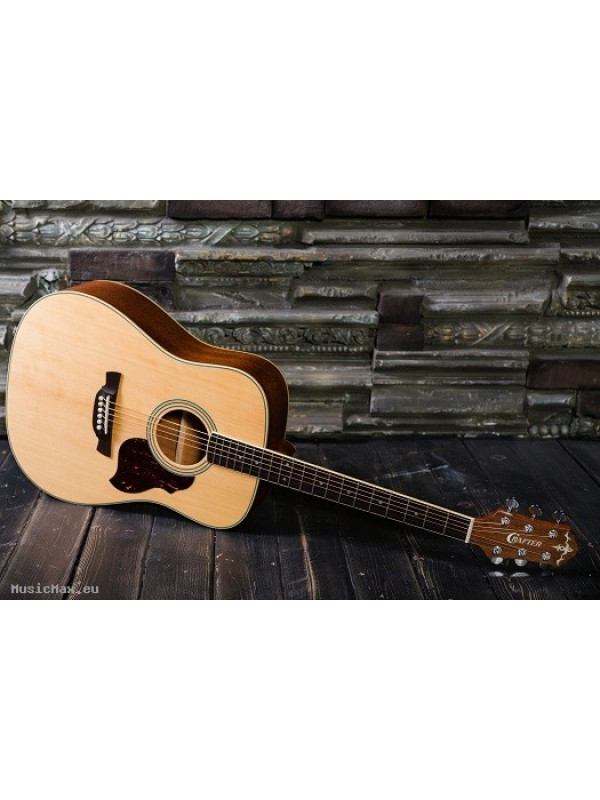 CRAFTER D 6/N (W/SB-DG) Acoustic Guitar with Crafter SB-D Soft Bag, Solid Sitka